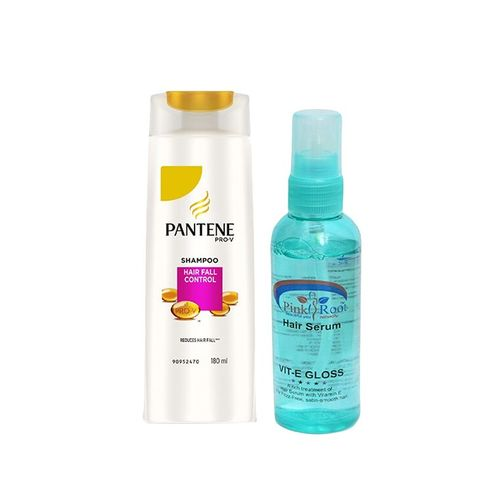 pantene pro-v hair fall control shampoo with pink root hair serum pack of 2