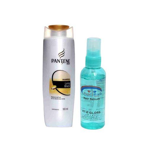 pantene pro-v long black shampoo with pink root hair serum pack of 2