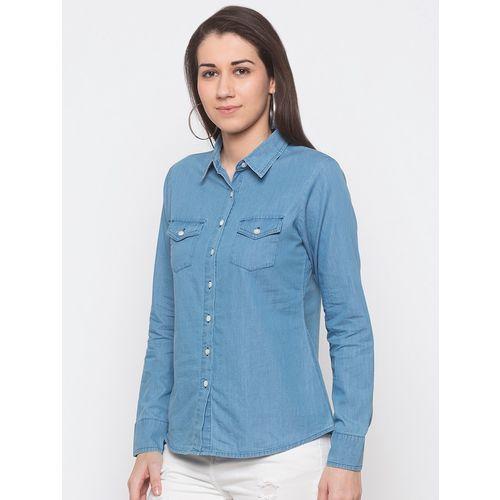 Globus long sleeved denim shirt