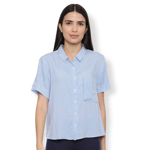 Van Heusen pocket patch striped shirt