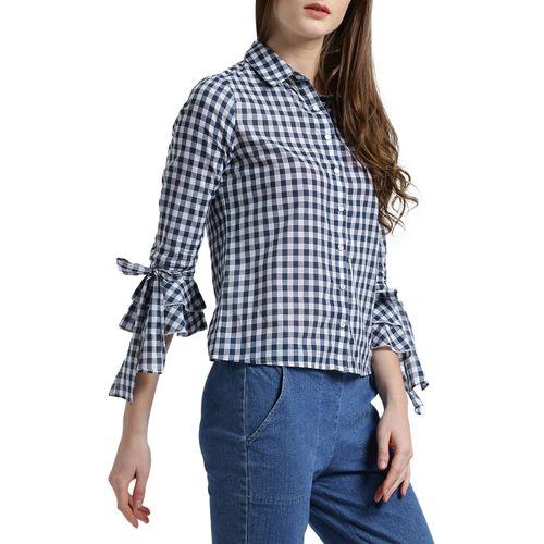 texco navy blue checkered shirt