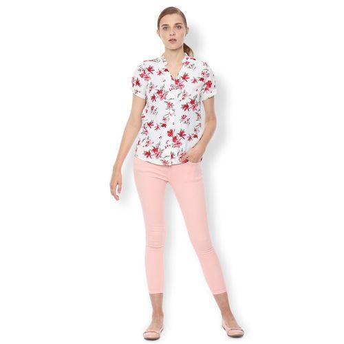 Van Heusen mandarin neck floral shirt
