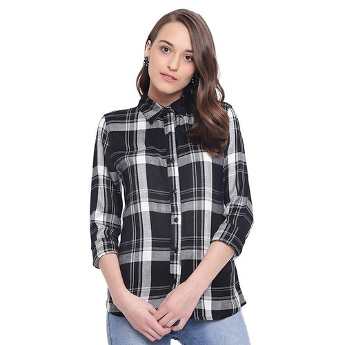 The gud look roll up sleeved checkered shirt