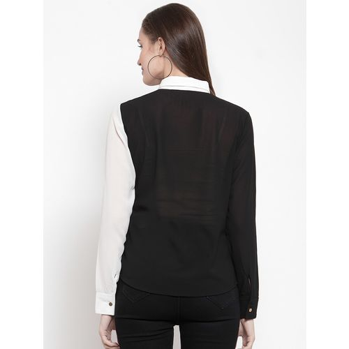 ARMURE color block long sleeved shirt