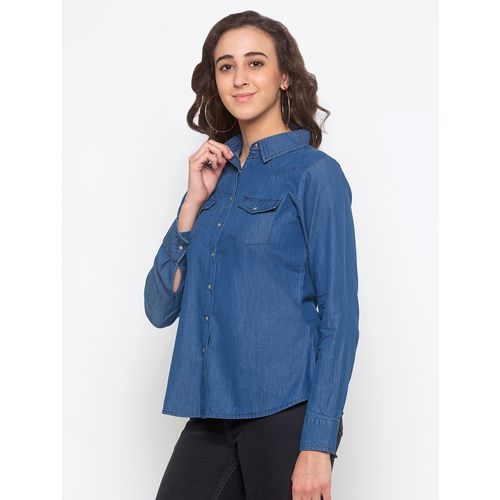 Globus long sleeved denim shirt
