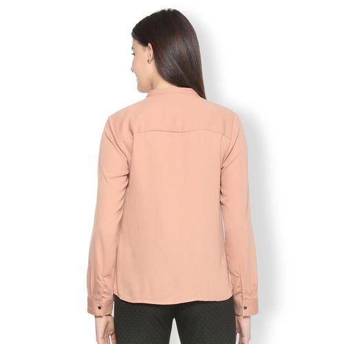 Van Heusen blush pink pin-tucks detail shirt