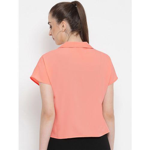oxolloxo lapel neck short sleeved shirt