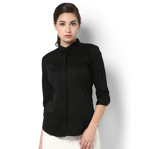 Van Heusen concealed placket solid shirt
