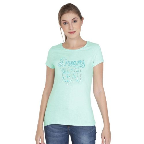 Jockey round neck slogan printed tee
