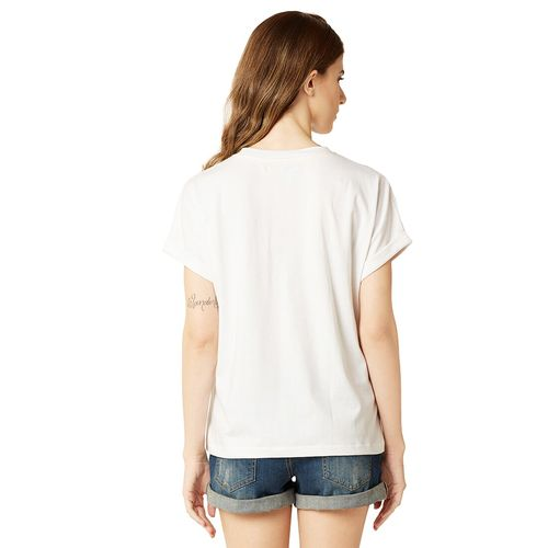 Miss Chase white printed cotton tee