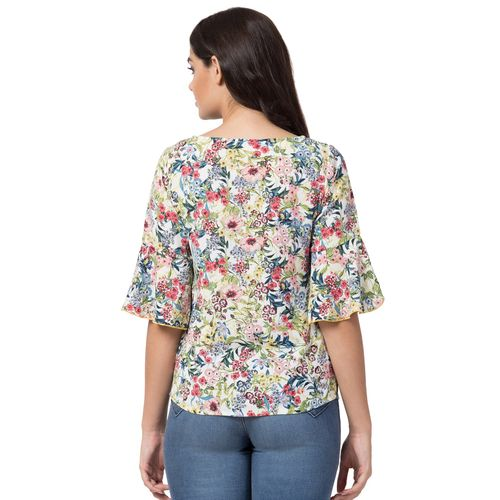 Hive91 bell sleeved floral top