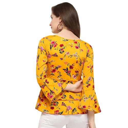 Glampunch bell sleeved floral top