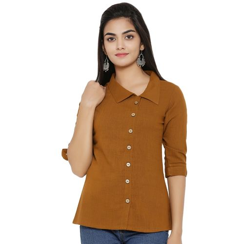 Yash Gallery roll up sleeved solid top