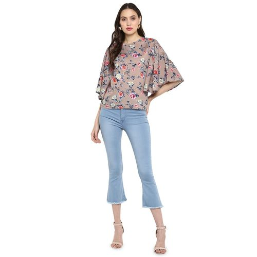 One Femme bell sleeved floral top