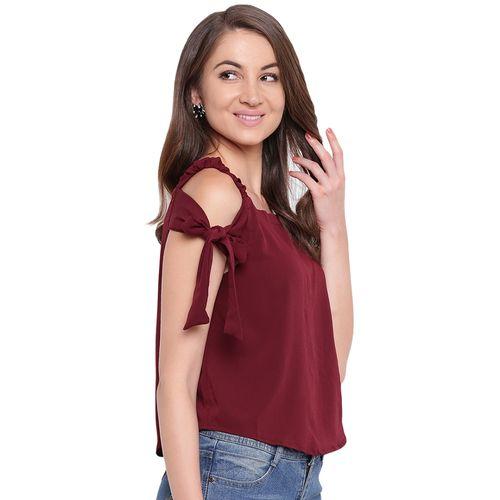 Mayra cold shoulder solid top