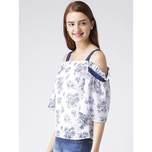 KASSUALLY contrast detail floral top