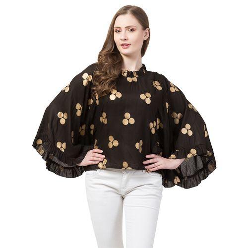 FAB FOREVER kimono sleeved polka dot top