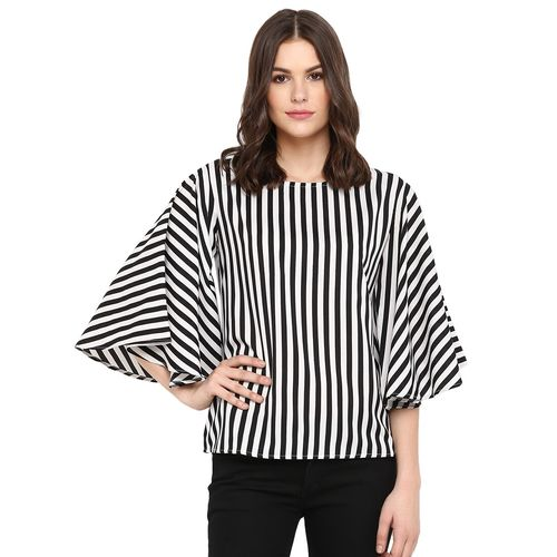 One Femme bell sleeved striped top