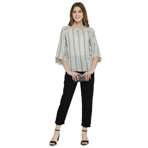 250 Designs bell sleeved striped top