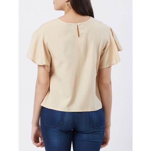fusion beats flutter sleeved boxy top