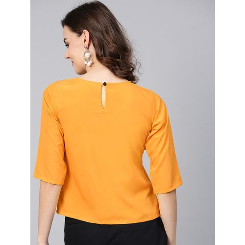 Aasi - House Of Nayo ruffle trim crew neck top