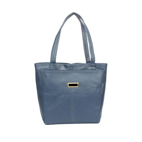 Vunik blue leatherette regular handbag