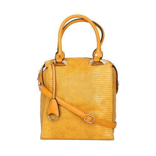 Kleio yellow leatherette handbag