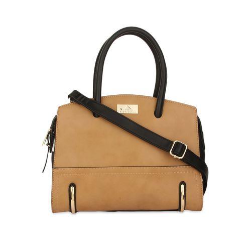 Alvaro Castagnino brown embellished faux leather handbag