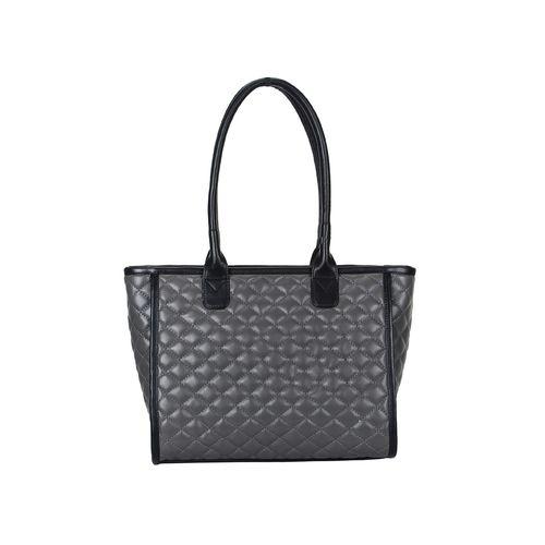 Anekaant grey leatherette (pu) regular handbag
