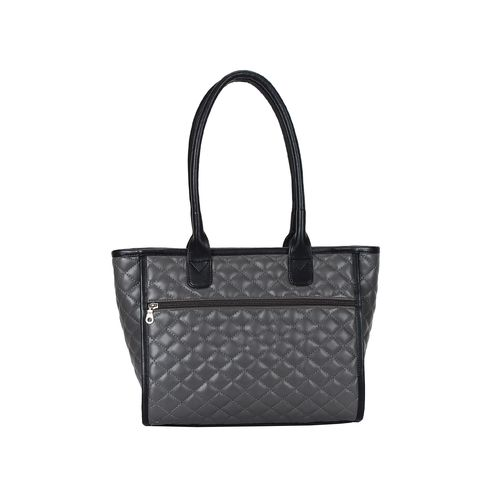 Anekaant grey leatherette (pu) regular handbag
