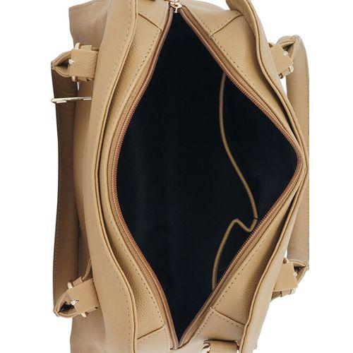 Lapis O Lupo beige leatherette regular handbag