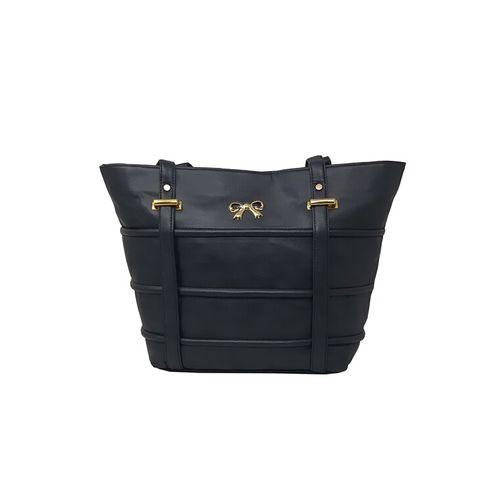 RISH black leatherette (pu) handbag