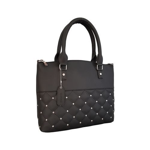 Toteteca black leatherette regular handbag