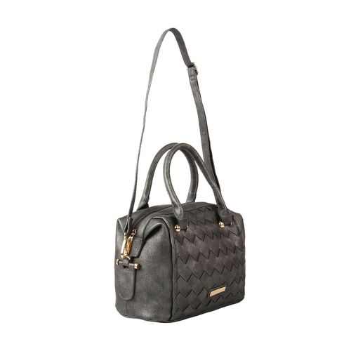 Addons grey leatherette (pu) regular handbag