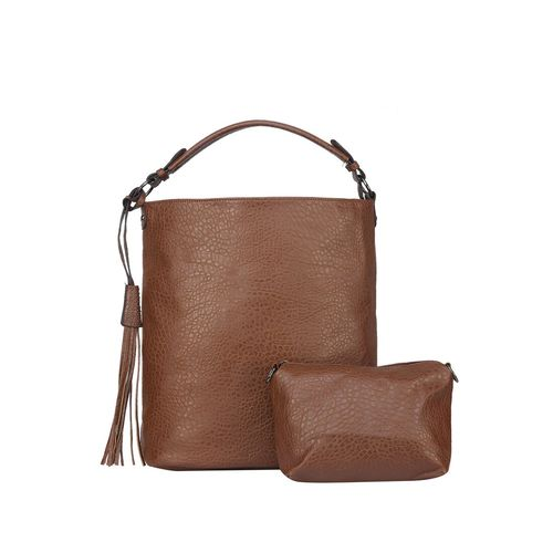 Fiona Trends brown leatherette handbag