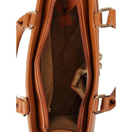 Addons brown leatherette regular handbag