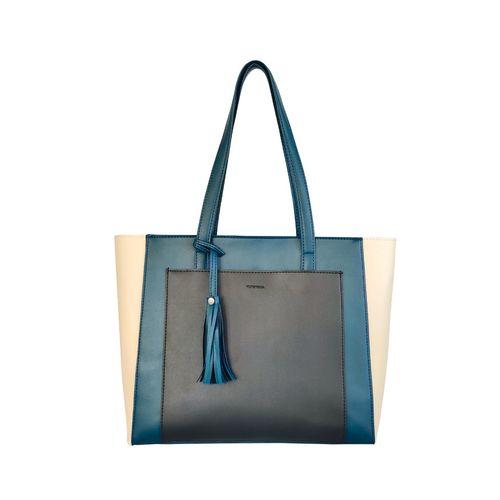 Toteteca blue leatherette regular handbag