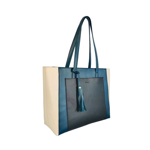 Toteteca blue leatherette regular handbag