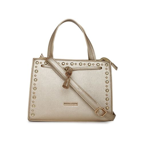 Addons gold leatherette (pu) handbag