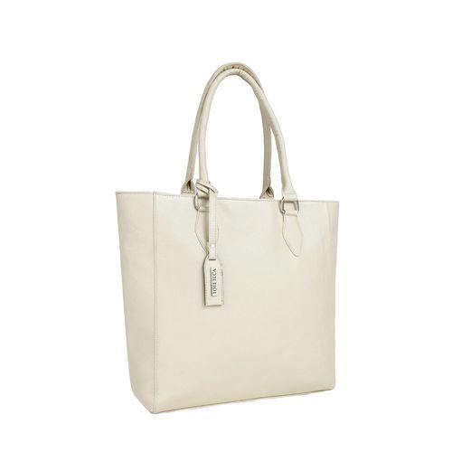 Toteteca beige leatherette regular handbag