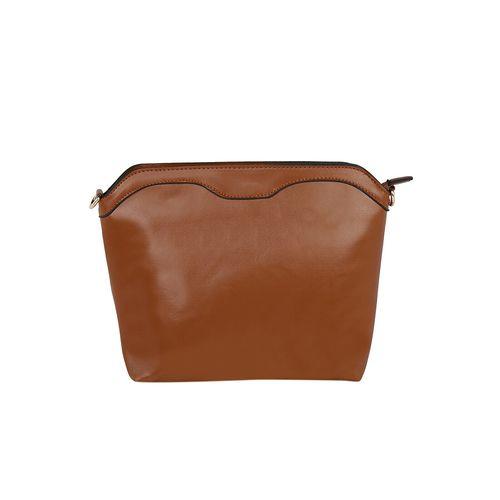 Kleio brown leatherette handbag