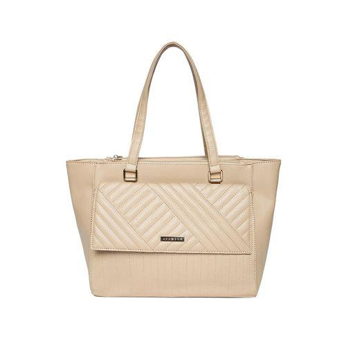 Addons beige leatherette (pu) regular handbag