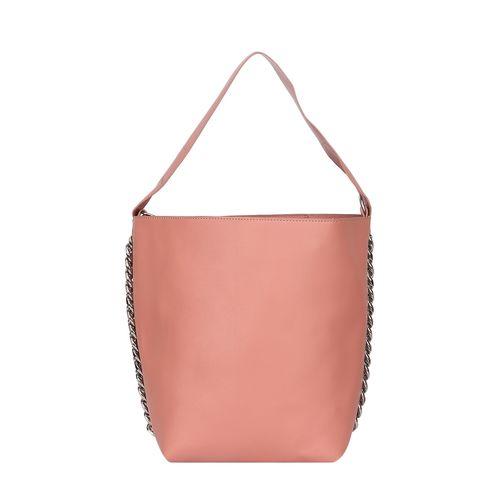 Fiona Trends pink leatherette regular handbag
