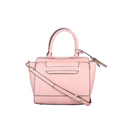 Allen Solly pink leatherette (pu) regular handbag