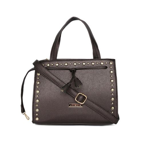 Addons brown leatherette (pu) regular handbag