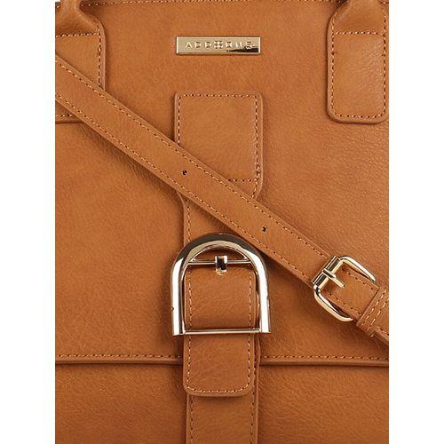 Addons tan leatherette regular handbag