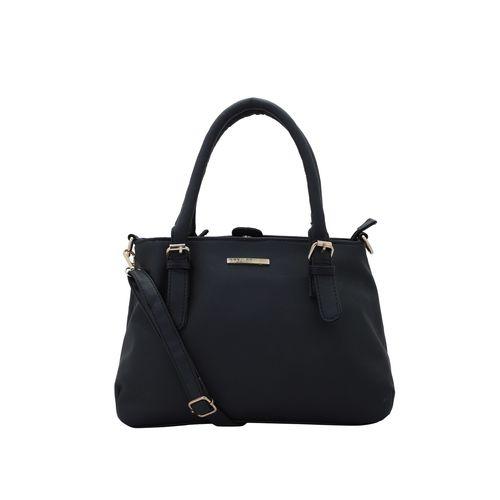 Lapis O Lupo black leatherette (pu) regular handbag
