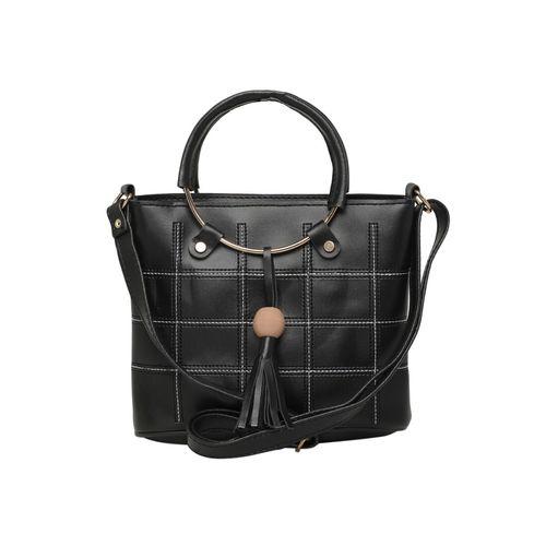 Diva Walk black leather regular handbag