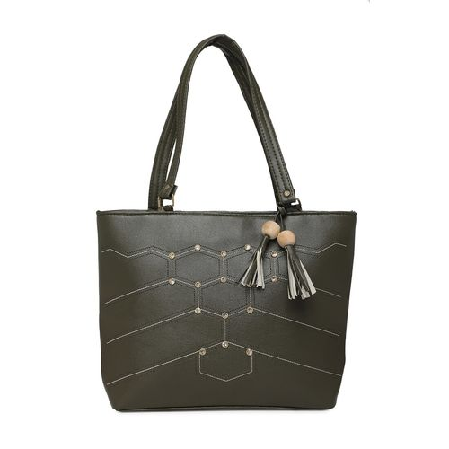 Diva Walk green leather regular handbag