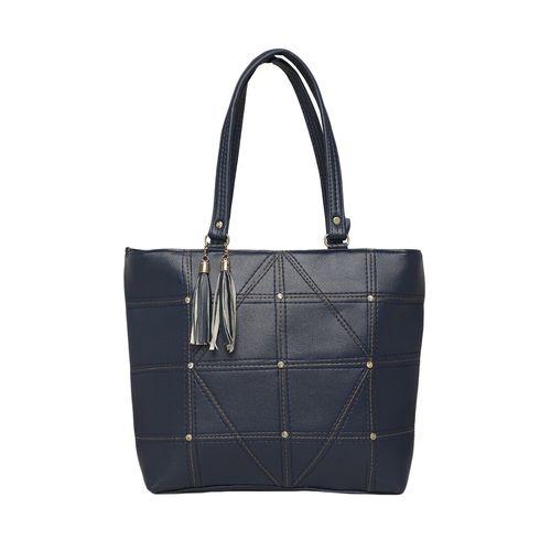 Diva Walk blue leatherette regular handbag